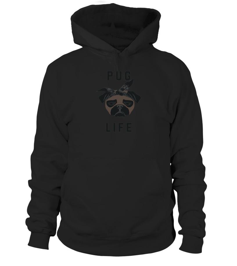 80f278fdb Cool Pug Life Funny Thug Life T Shirt T-shirt, V-neck, Long Sleeve ...