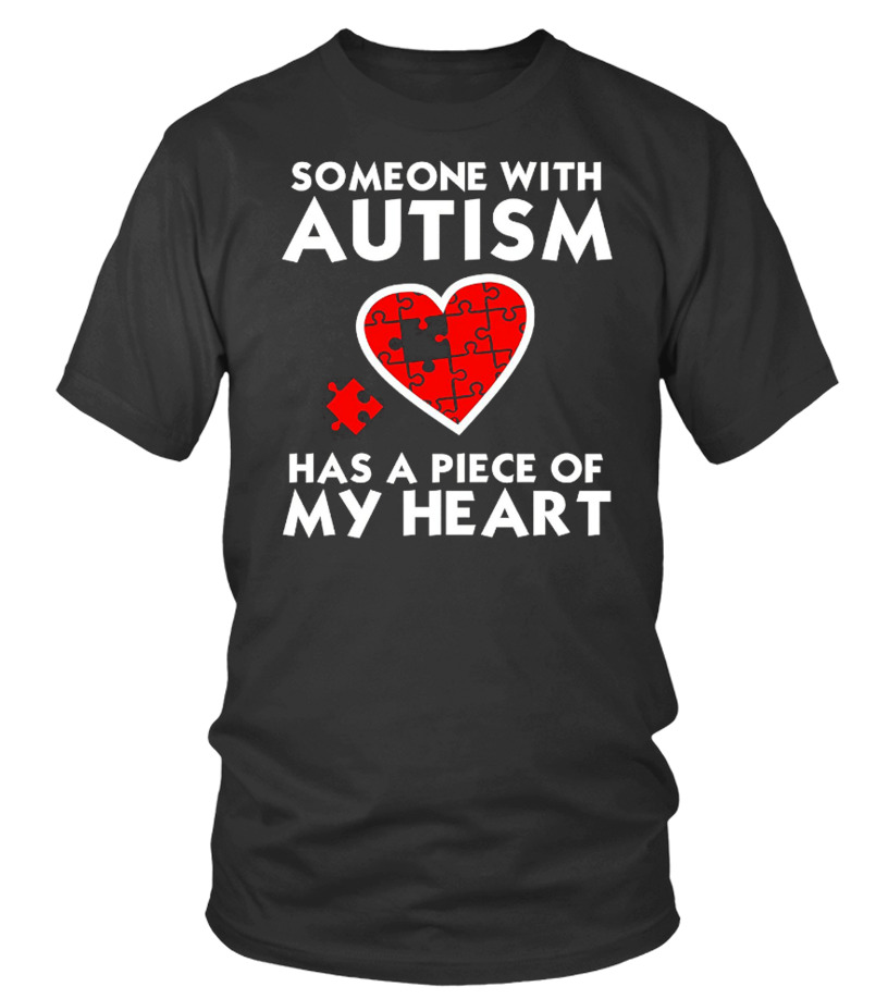 Autism Awareness Love T-Shirt - Piece Of My Heart Tee