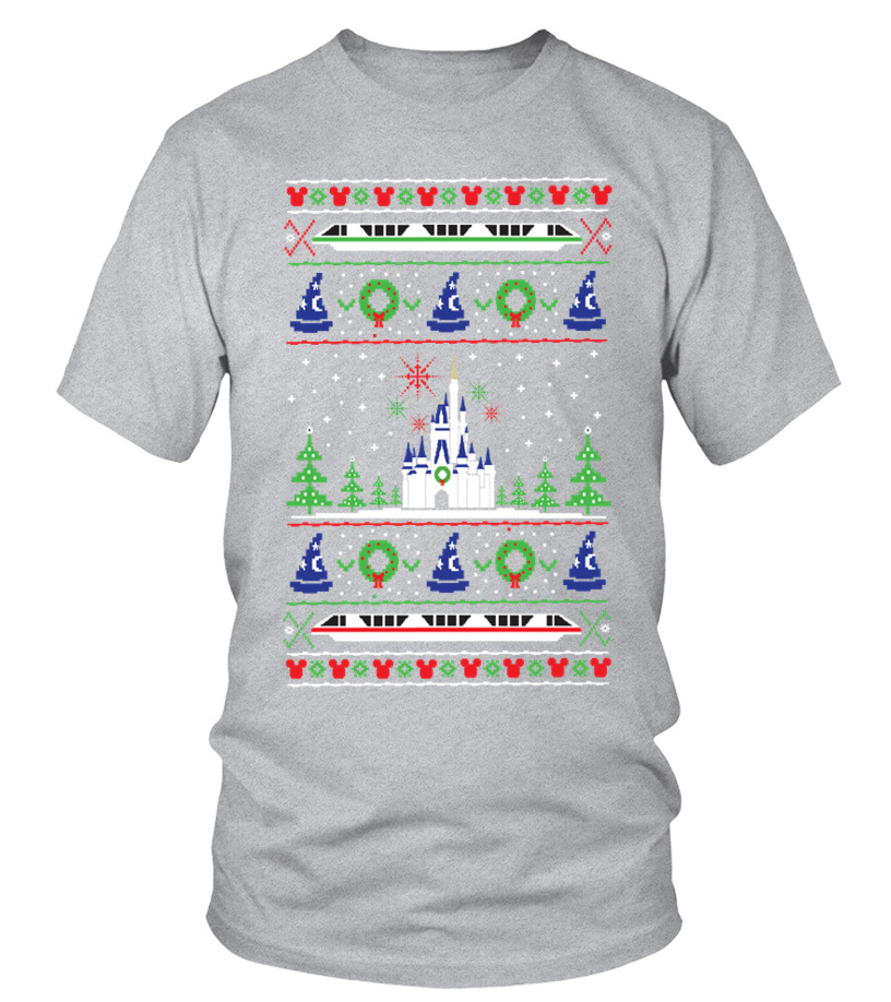 Shop Christmas - Magical Kingdom Christmas Sweater Round neck T-Shirt Unisex