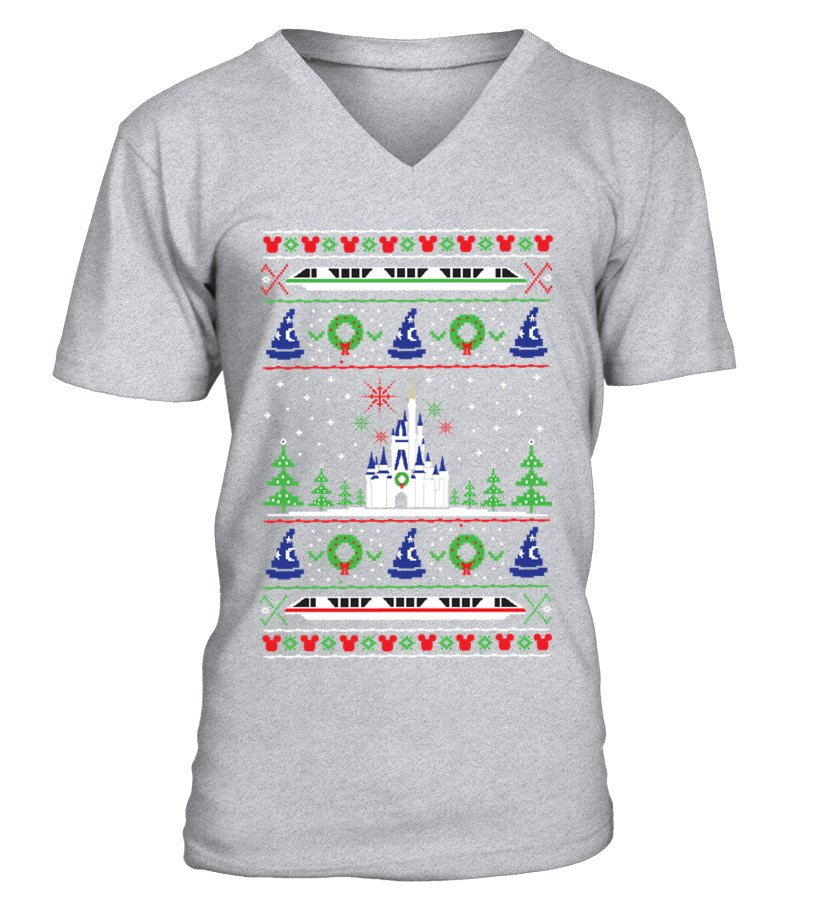 Shop Christmas - Magical Kingdom Christmas Sweater V-neck T-Shirt Unisex