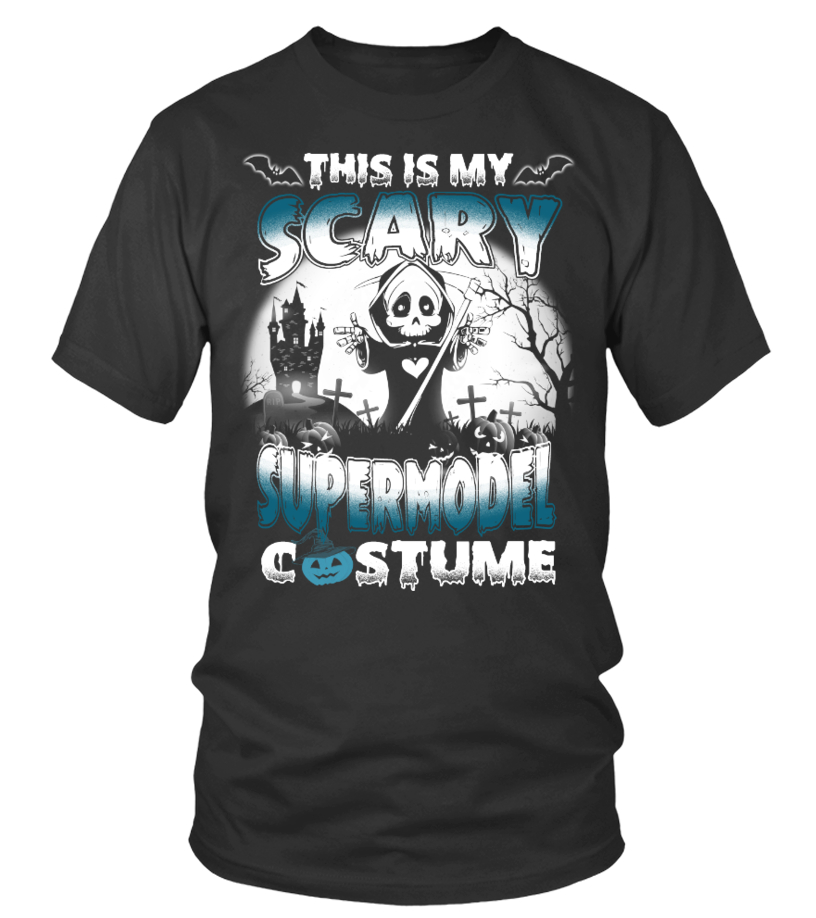 Halloween Shirt Scary SUPERMODEL Costume
