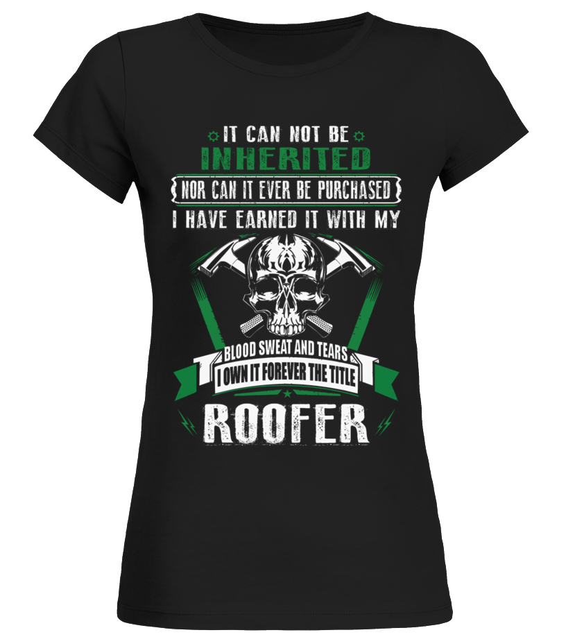 Awesome Roofer - ROOFER Round neck T-Shirt Woman