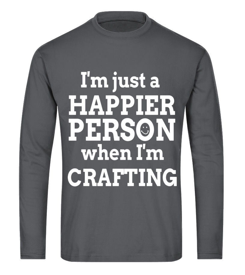 b09a24538 Awesome Scrapbooking - Happy to be Crafting T Shirts Gifts Ideas for  Crafters Long sleeved T