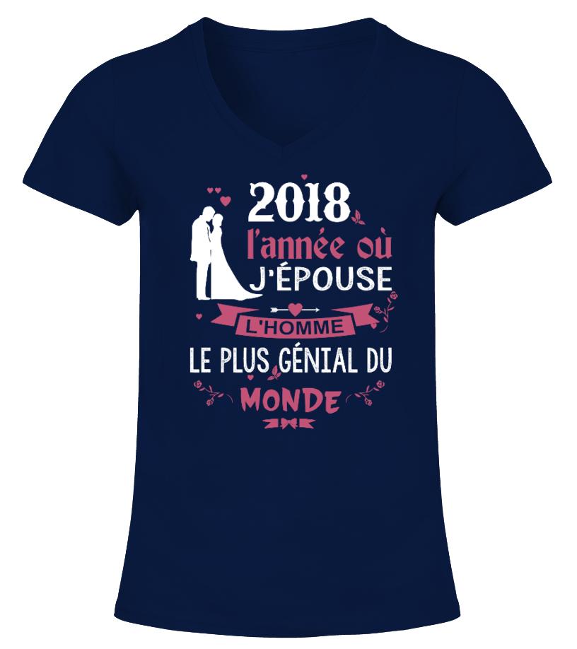 Mariage 2018   EVJF - Mariée- T shirt Col V / Rond / Débardeur / Sweet
