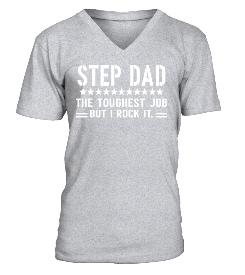 Funny Father T-Shirt - Step Dad V-neck T-Shirt Unisex