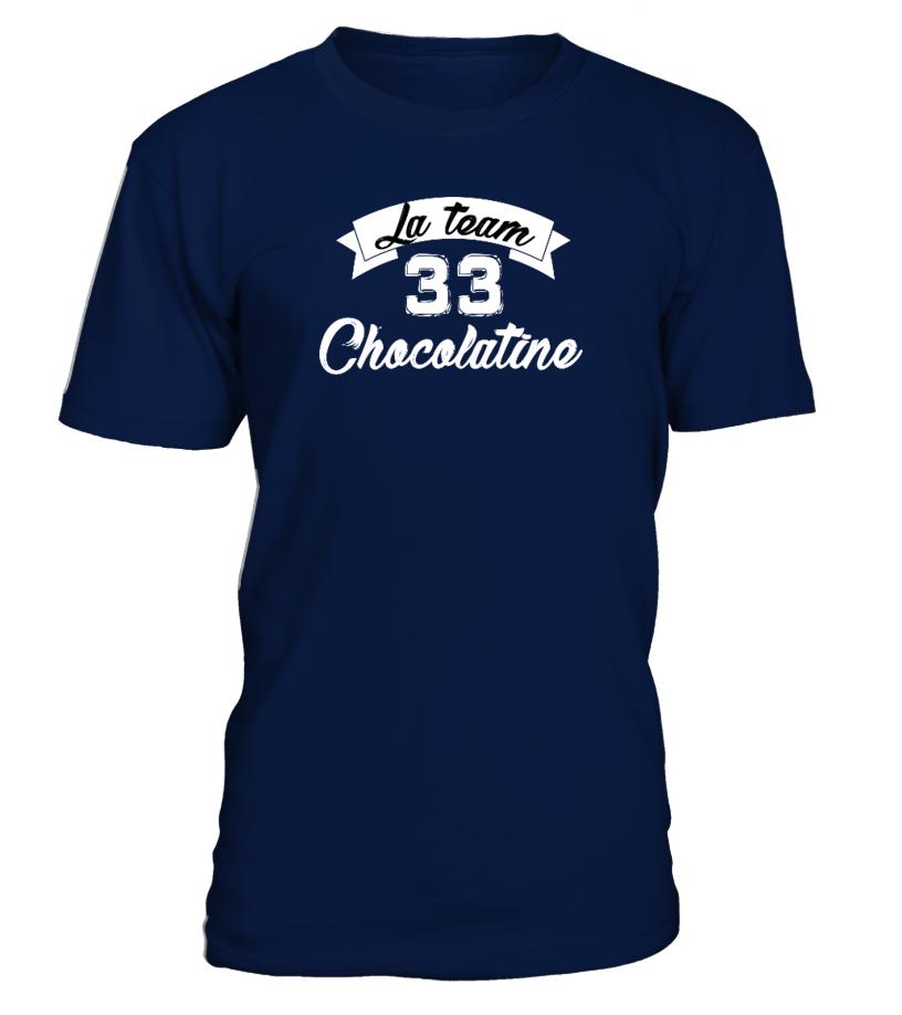 T-shirt Team Chocolatine 33 (10 coloris - Femmes, hommes & enfants)