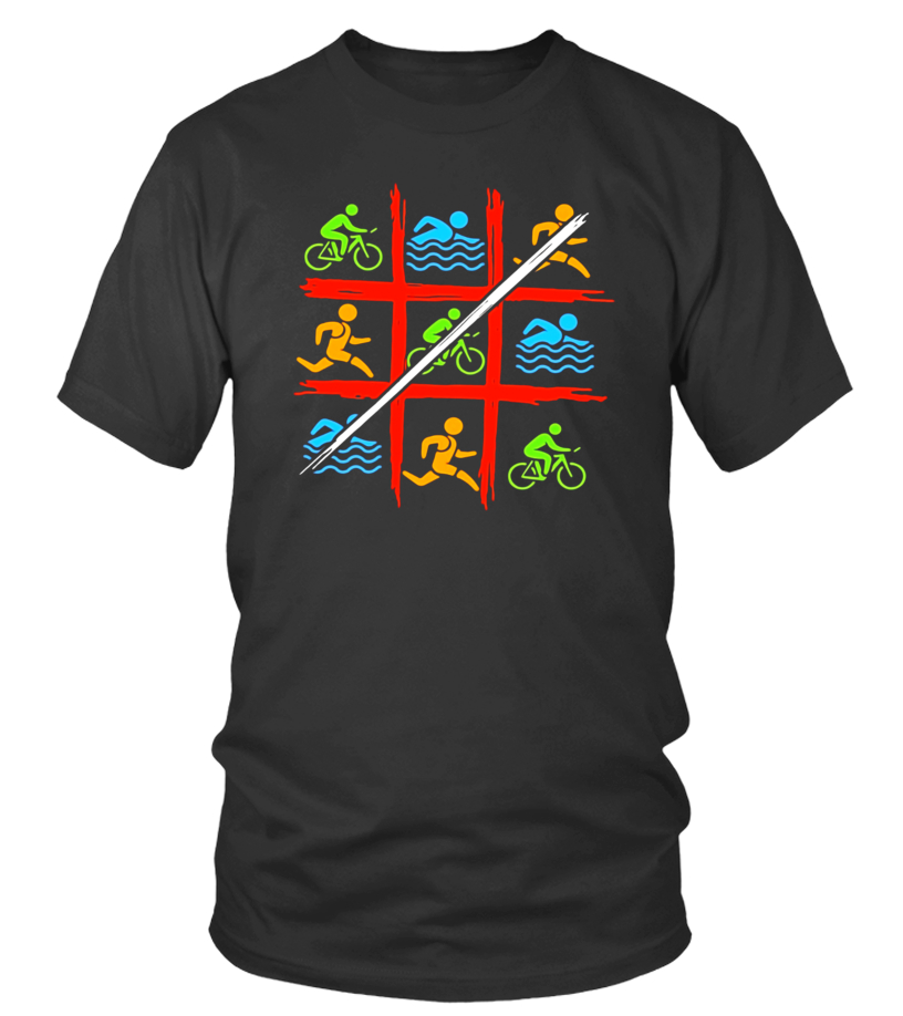 Triathlon Tic Tac Toe Triathlon T-Shirt - Limited Edition