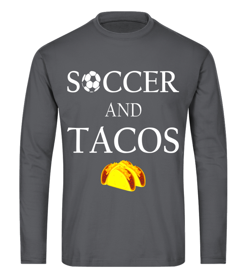 3e8aa8a9 Gifts Tshirt - Soccer And Tacos - Funny Mom Dad Sports Gift T-Shirt Long