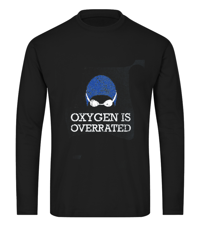 Oxygen Is Overrated T-shirt, Funny Swim1 - Cool Swim Tee Shirts For Men And  Womens Design