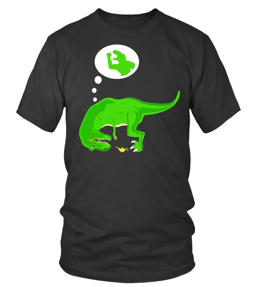 21774e75 Best Funny T-rex T-shirt, Genie Lamp, Short Arms, By Zany Brainy ...