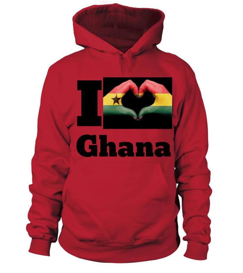 Kapuzen-Pullover  I love Ghana