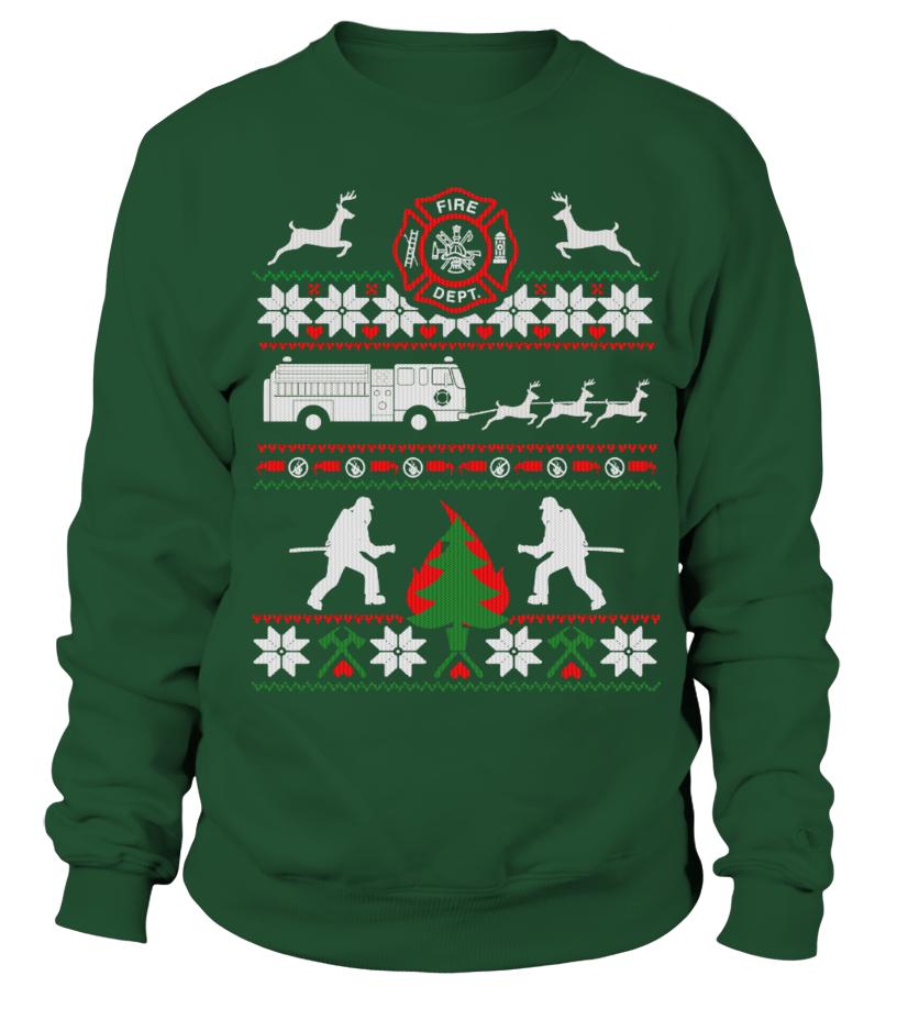 Funny Christmas - FIREFIGHTER UGLY CHRISTMAS SWEATSHIRT Sweatshirt Unisex