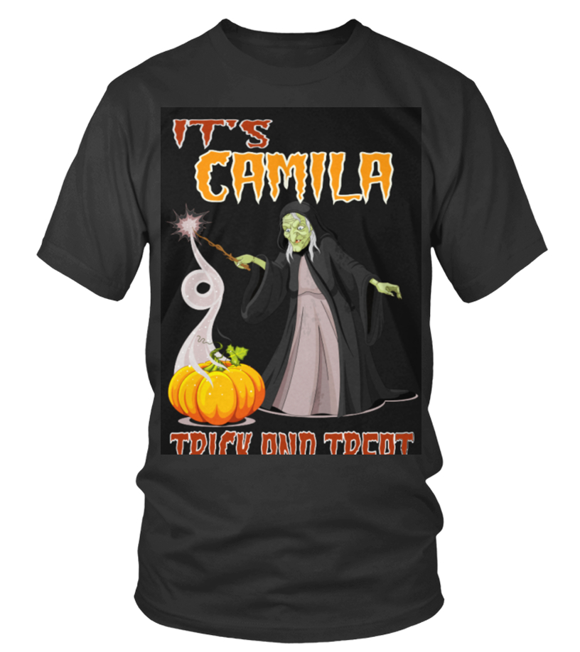 Gifts Halloween - Top Shirt CAMILLE IS HAVING FANTASTIC HALLOWEEN front Round neck T-Shirt Unisex