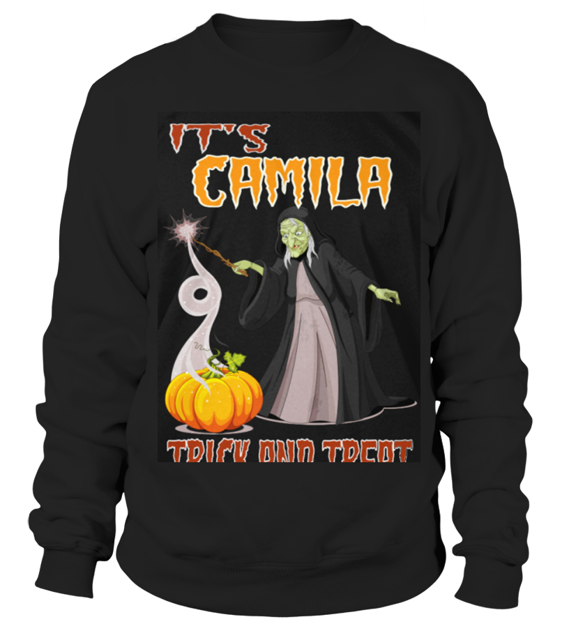 Gifts Halloween - Top Shirt CAMILLE IS HAVING FANTASTIC HALLOWEEN front Sweatshirt Unisex