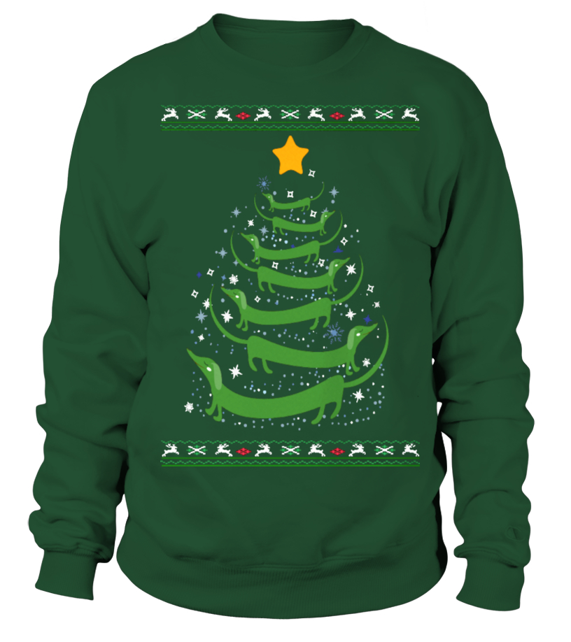 Gifts Christmas - Ltd Edition Dachshund Christmas Tree Sweatshirt Unisex