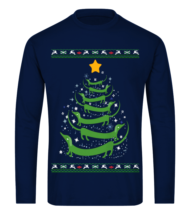 Gifts Christmas - Ltd Edition Dachshund Christmas Tree Long sleeved T-shirt Unisex