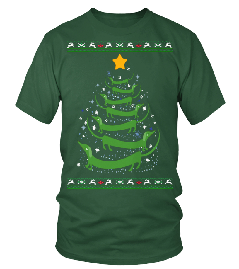 Gifts Christmas - Ltd Edition Dachshund Christmas Tree Round neck T-Shirt Unisex