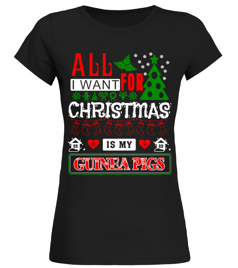 Awesome Christmas - All I Want For Christmas Round neck T-Shirt Woman