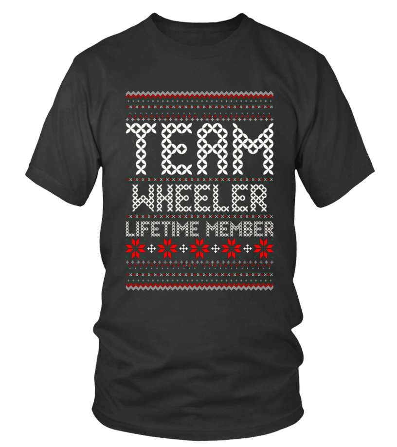 Funny Christmas - Kids Team Wheeler Lifetime Member Ugly Christmas Sweater T Shirt 12 Black copy Round neck T-Shirt Unisex