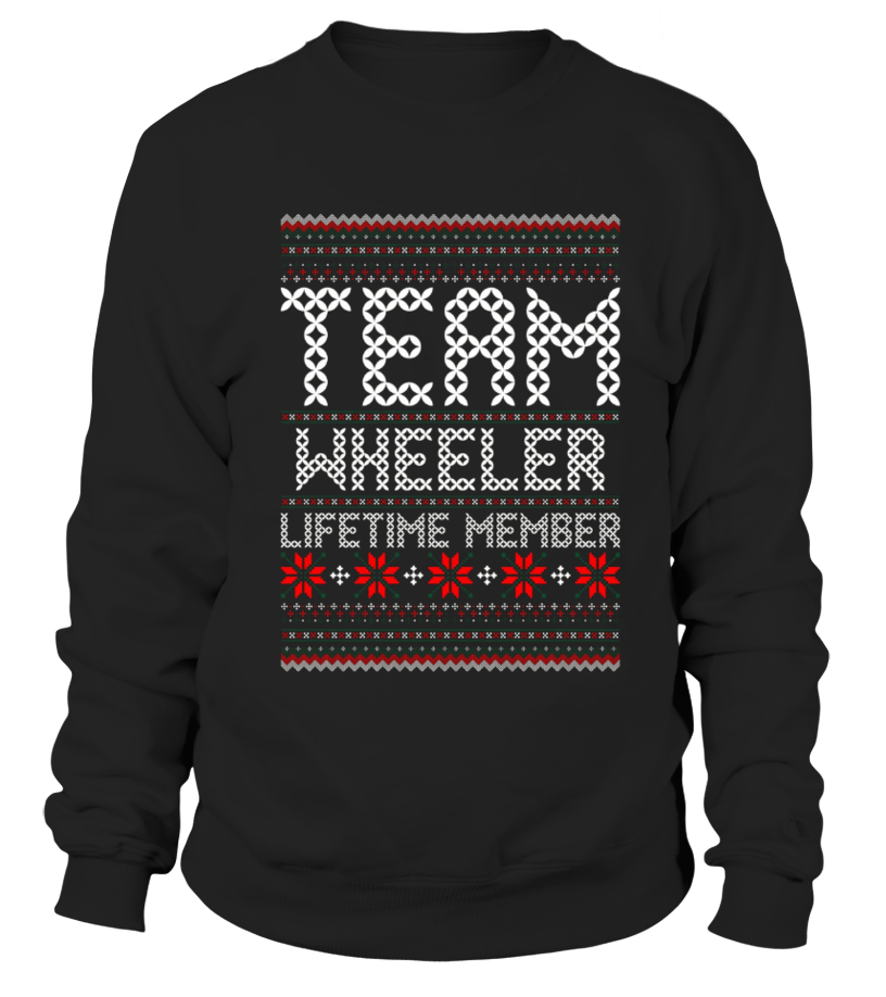 Funny Christmas - Kids Team Wheeler Lifetime Member Ugly Christmas Sweater T Shirt 12 Black copy Sweatshirt Unisex