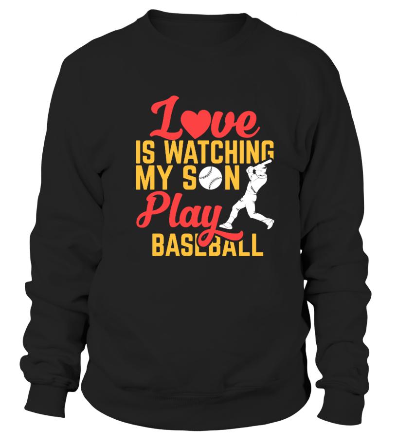 Funny Baseball - Love is Watching My Son Play Baseball Sweatshirt Unisex