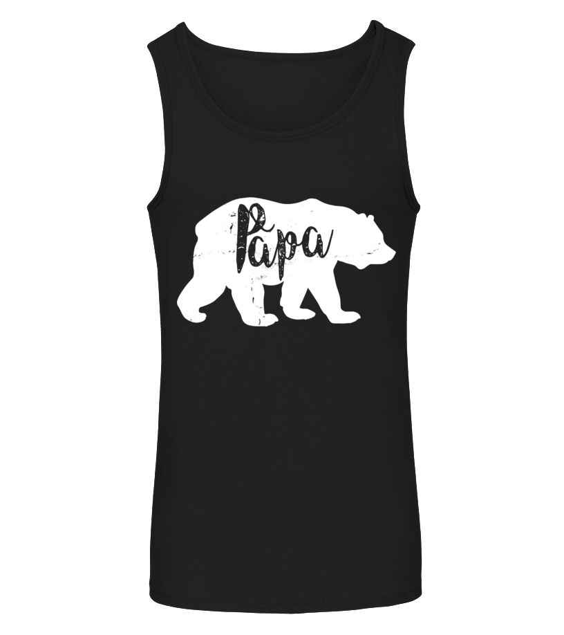 Funny Father - Vintage Papa Bear Awesome Camping Fathers Day T-shirt - Limited Edition Tanktop Unisex