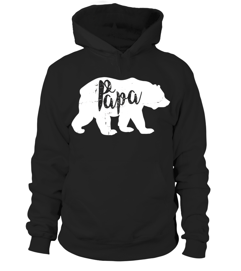 Funny Father - Vintage Papa Bear Awesome Camping Fathers Day T-shirt - Limited Edition Hoodie Unisex