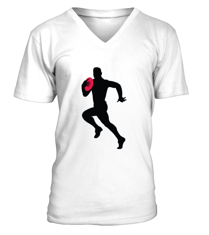 Men S Rugby Player Running With Ball Silhouette Cool Sports Shirt Small  Baby Blue - Cool Running T Shirt For Man, Woman Design