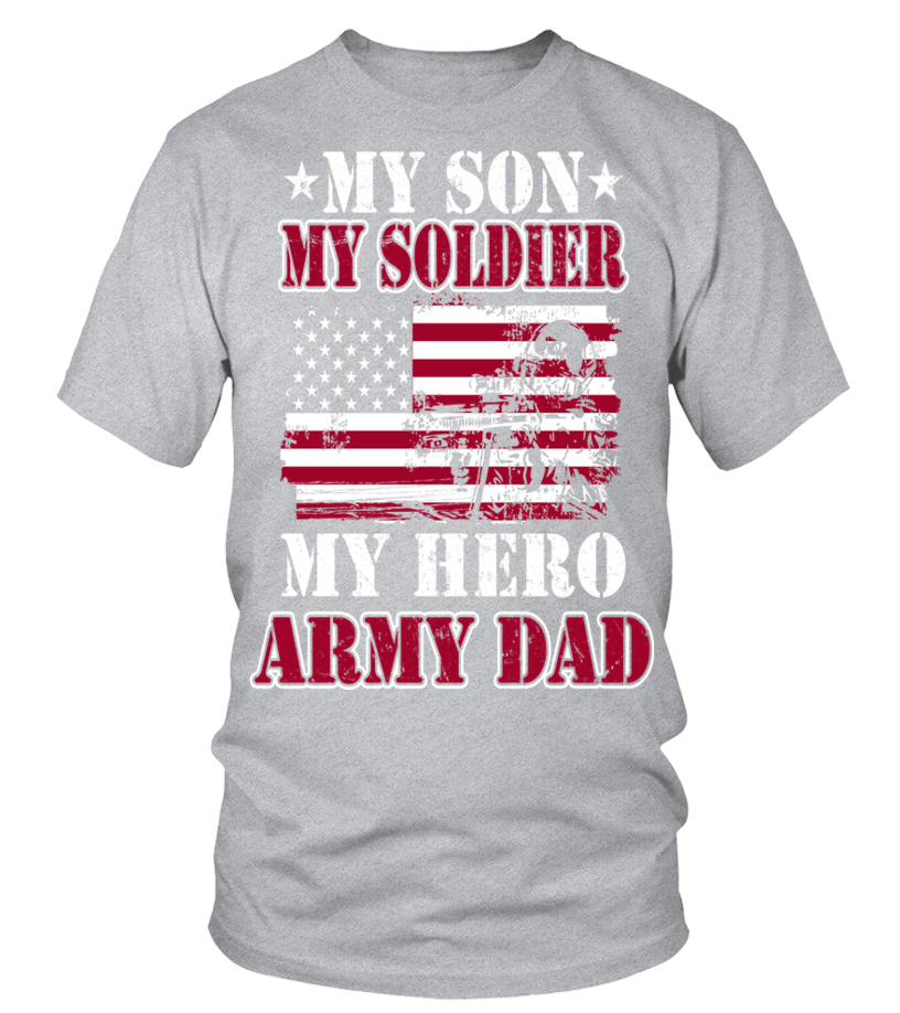 Excellent My Son My Soldier My Hero Army Dad T Shirt Tshirt e2364096d