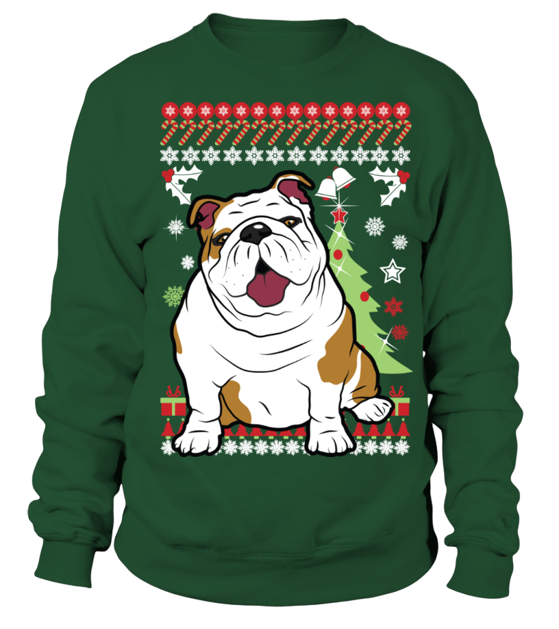 English BullDog Christmas Sweater