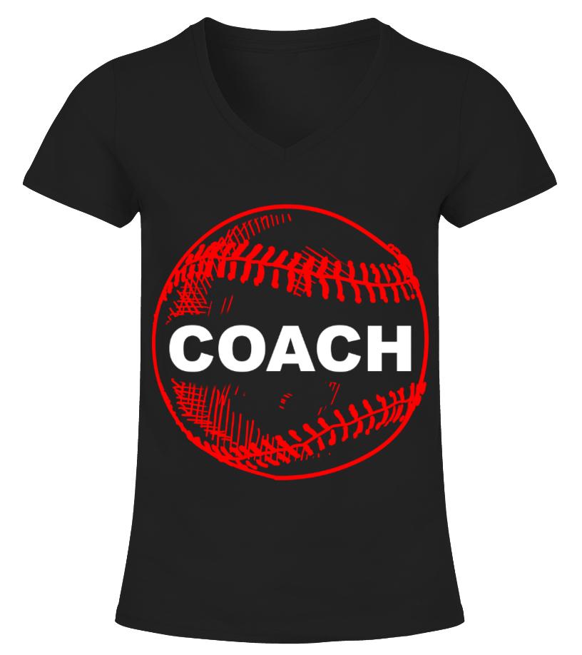 Amazing Baseball - Gift Tee For Baseball Coach Softball Sports HOT SHIRT V-neck T-Shirt Woman