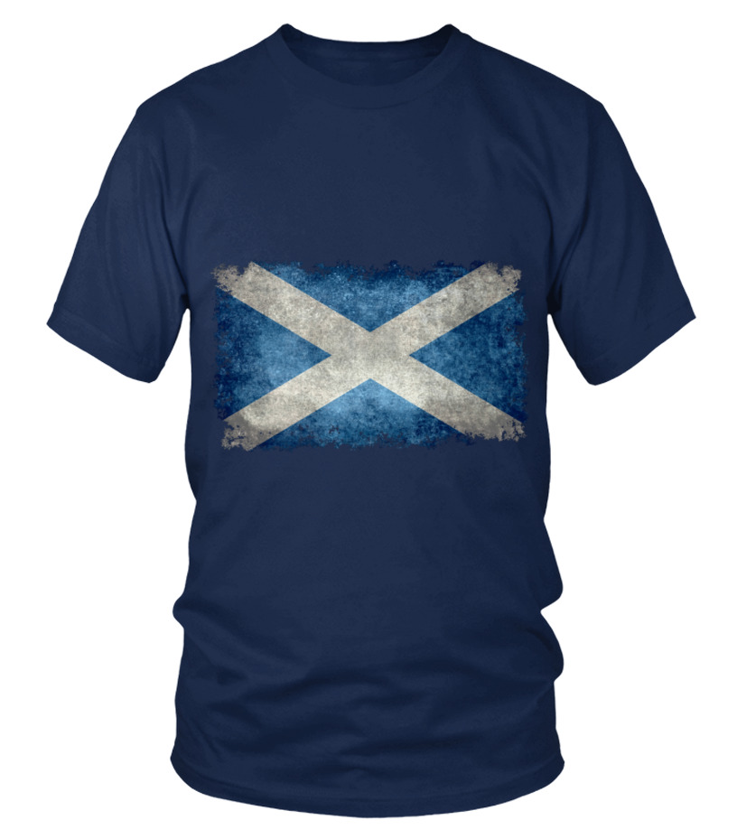 Flag of Scotland in vintage retro style