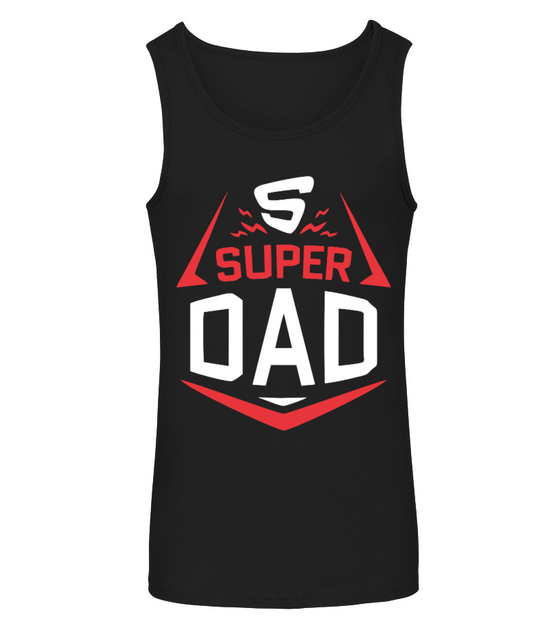 Funny Father T-Shirt - Super Dad - Family Love Tanktop Unisex
