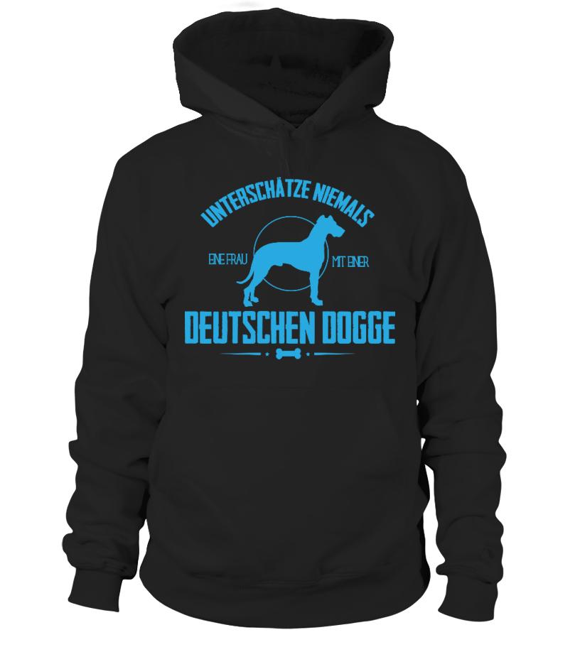 Deutsche Dogge Tshirt - Unterschätze niemals / Geschenk / Geschenkidee