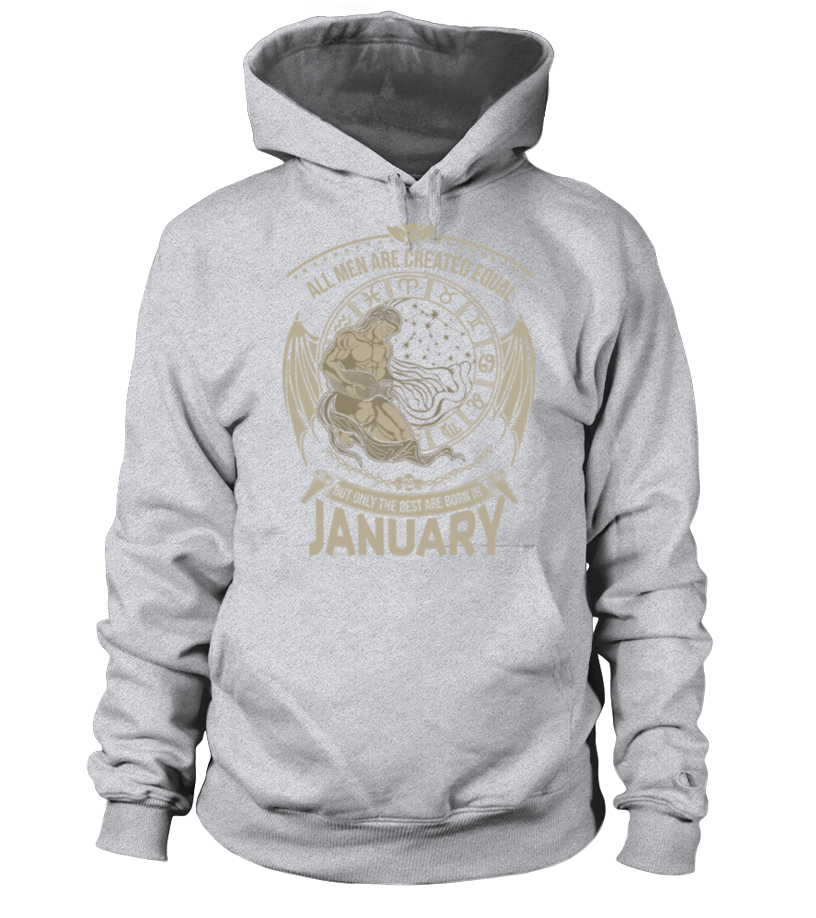 Best February Birthday - Aquarius - Only the best men are born in January Hoodie Unisex