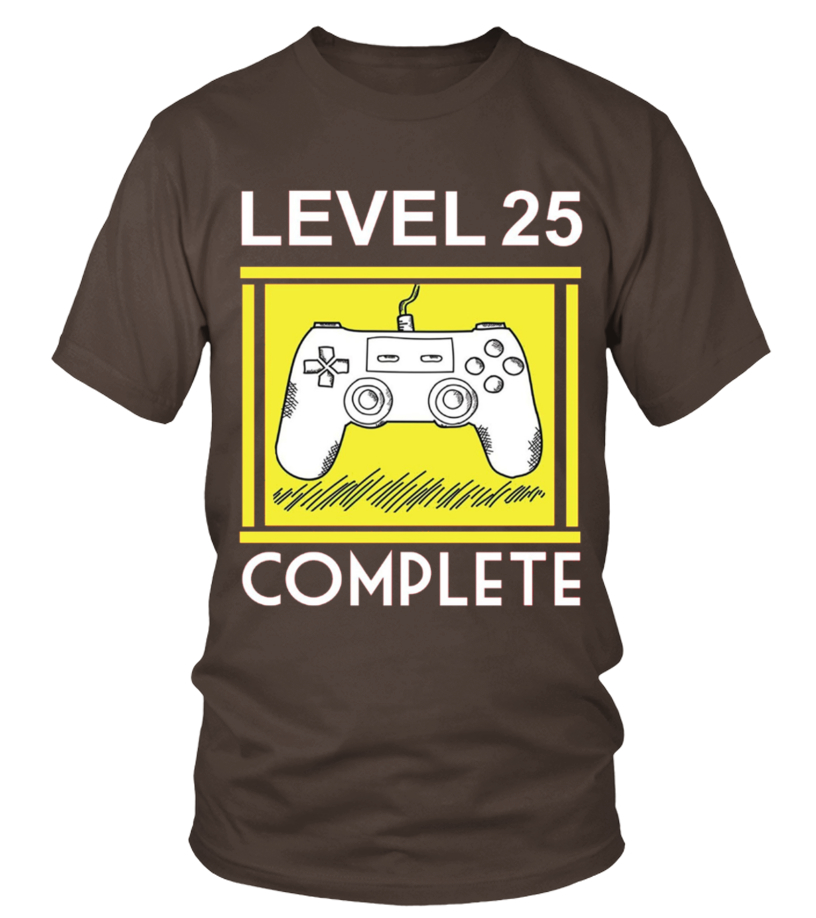 Level 25 Complete Funny 25th Birthday Tshirt Gamers Gift