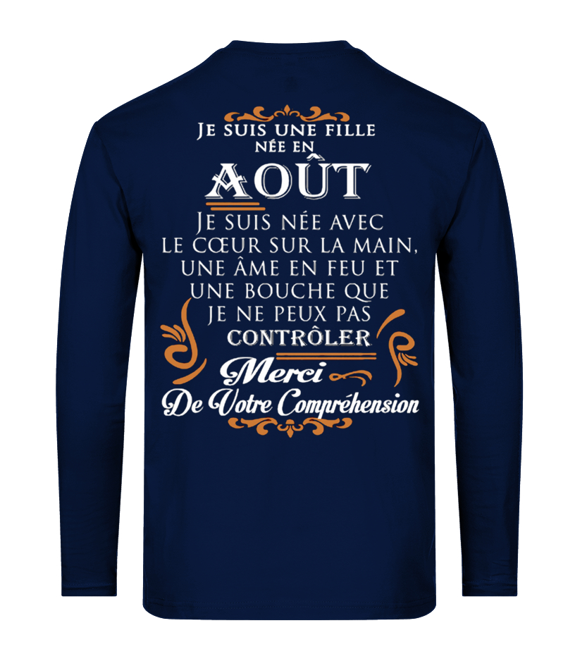 Awesome August T-Shirt - AOUT JE SUIS UNE FILLE Long sleeved T-shirt Unisex