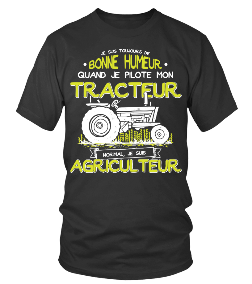 T-Shirt Agriculteur Agriculture Paysan Ferme Tracteur : NORMAL, JE SUIS AGRICULTEUR !