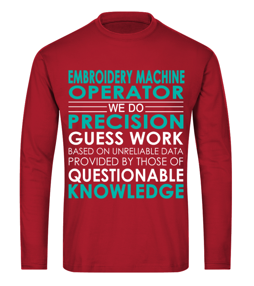 Excellent Embroidery Machine Operator Job Shirts Tshirt Hoodie