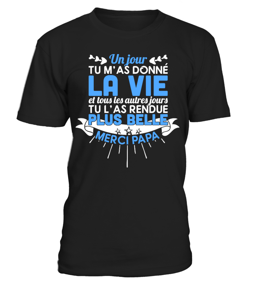 T-Shirt Cadeau Fête des Pères Papa