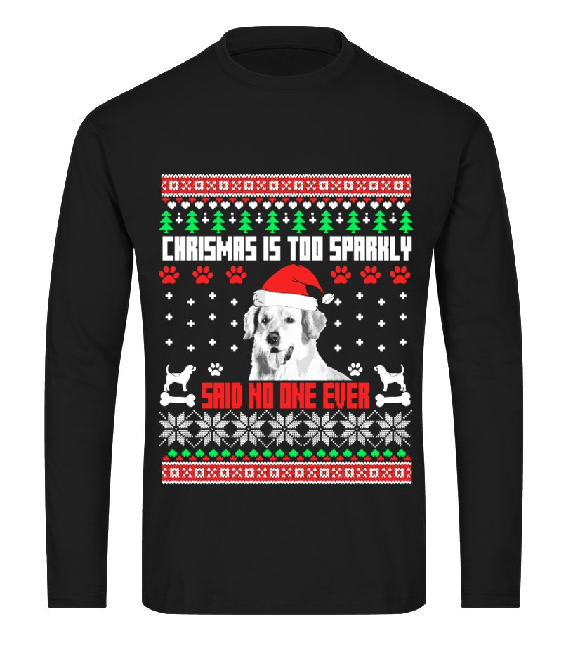 Amazing Christmas - Ugly Golden Christmas Sweater Long sleeved T-shirt Unisex