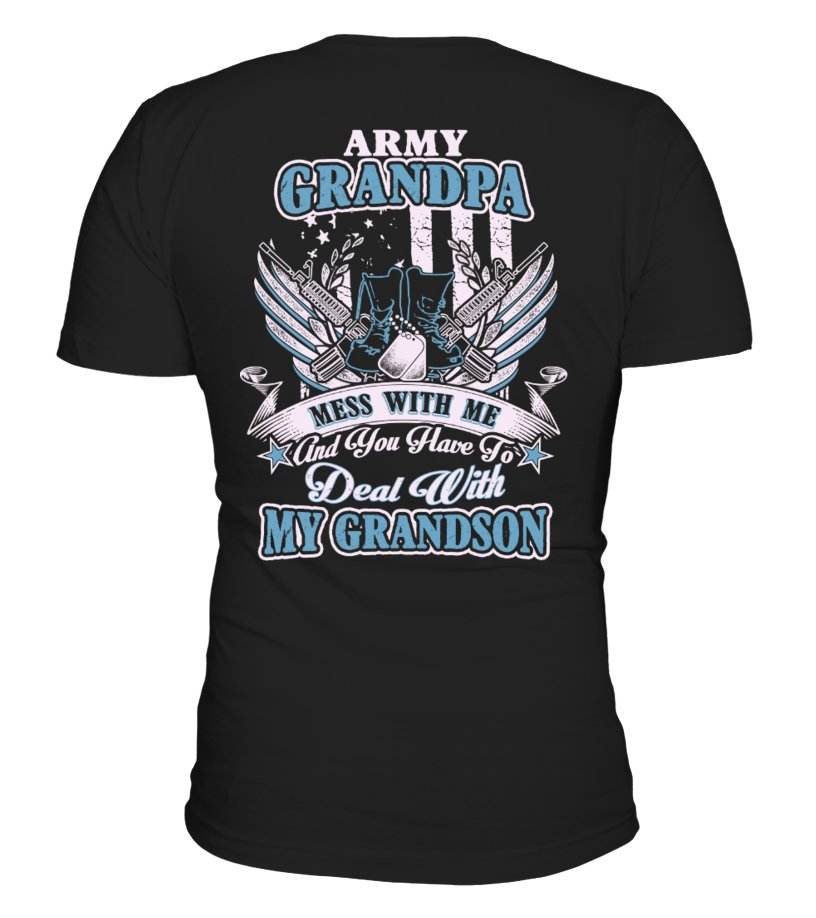 Best Father - Army Grandpa - Army Papa - Army Grandfather Shirt V-neck T-Shirt Unisex