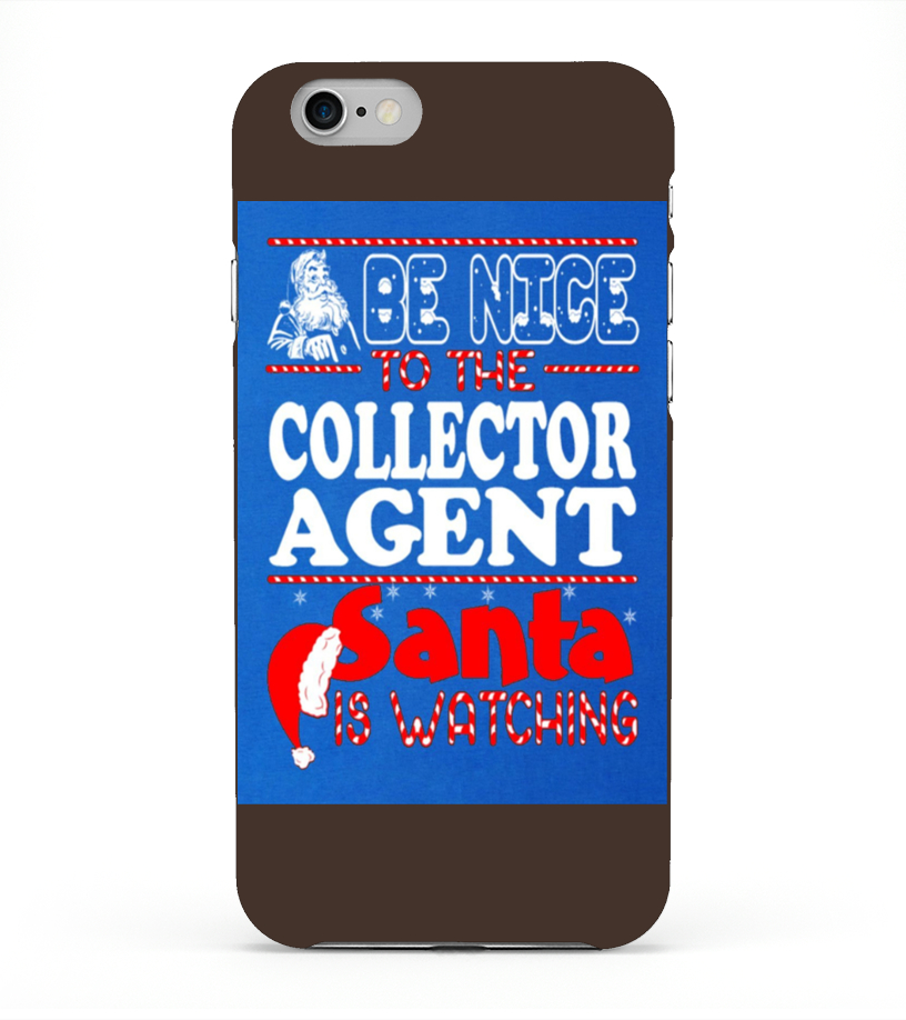 Funny Christmas - Men S Nice To Collector Agent Santa Watching Christmas T Shirt  3xl Royal Blue iPhone 6 Case