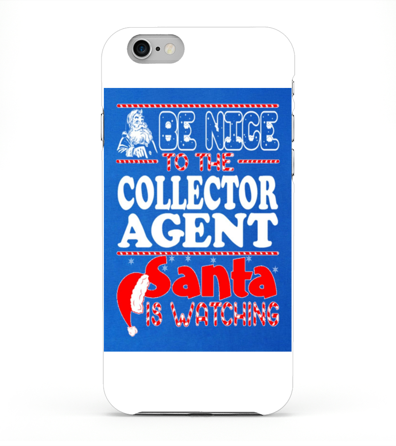 Funny Christmas - Men S Nice To Collector Agent Santa Watching Christmas T Shirt  3xl Royal Blue iPhone 6 Plus Case