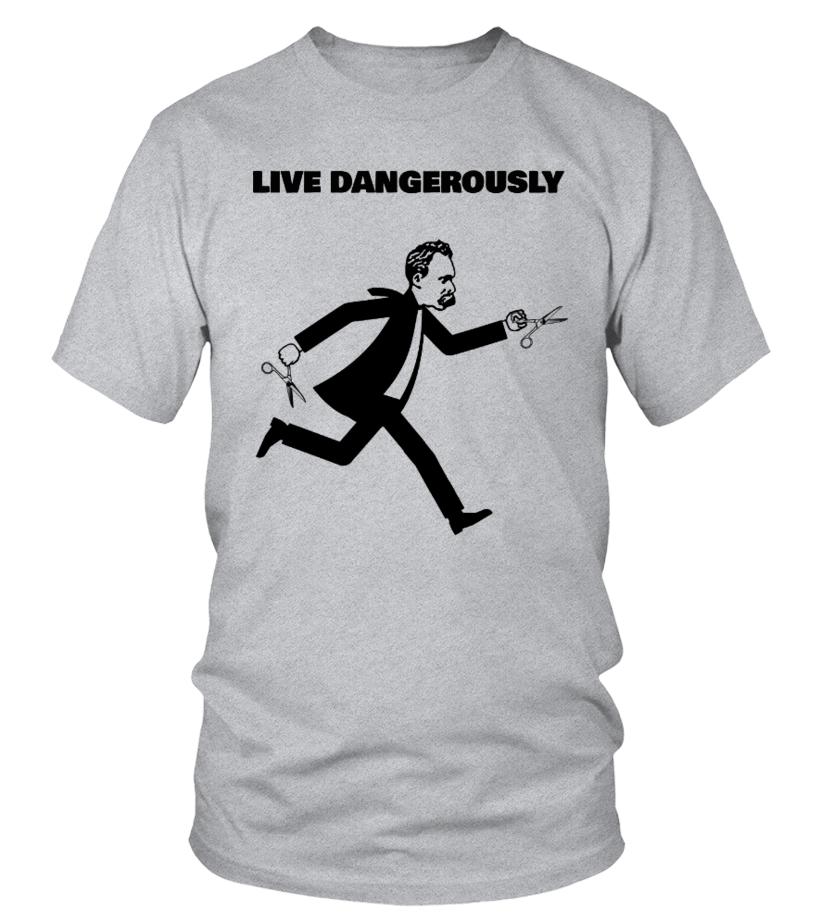 NIETZSCHE - LIVE DANGEROUSLY - Philosophy Shirt