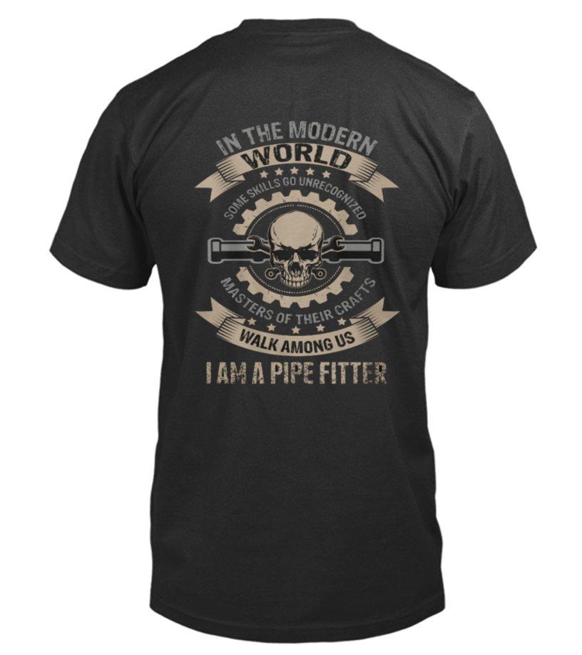 Shop Crafts - Best Pipe Fitters Shirt   Masters Of Crafts back Shirt Round neck T-Shirt Unisex