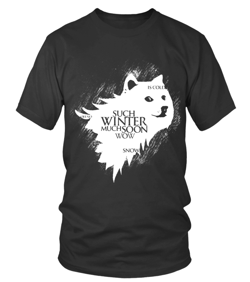 Doge Such Winter Much Snow MEME T-Shirt