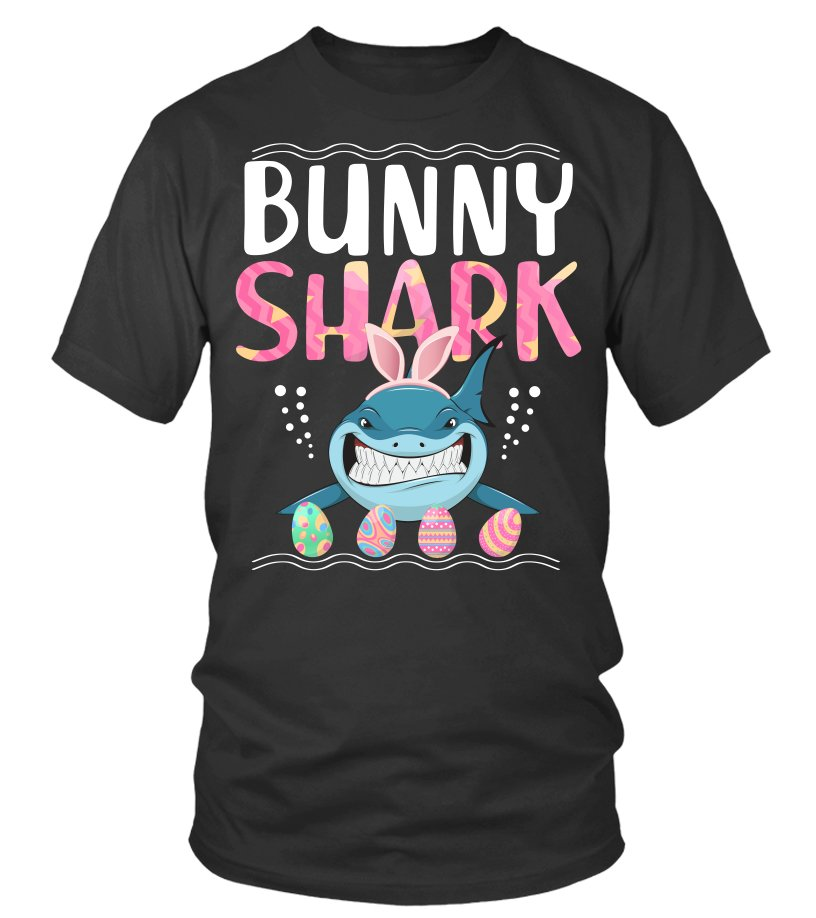 73f1be34a Bunny Easter Shark tshirt gift - Cheap Easter shirts for men and womens Round  neck T