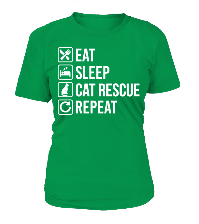 EAT SLEEP CAT RESCUE REPEAT