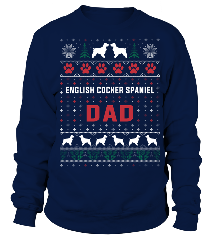 Funny Christmas - English-Cocker-Spaniel-Dad-Sweater-Christmas Sweatshirt Unisex